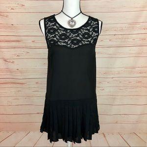 Mimi Chica Black Sleeveless Shift Mini Dress